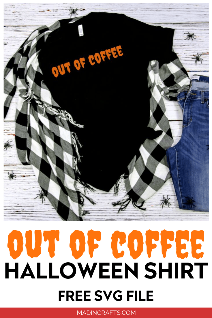 Out of Coffee SVG design t-shirt