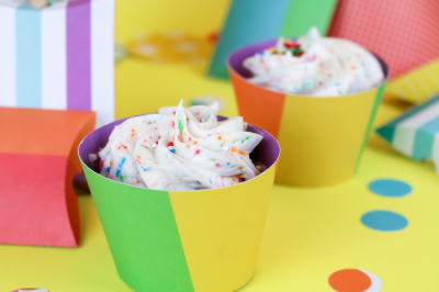 colorful DIY Cricut cupcake wrappers