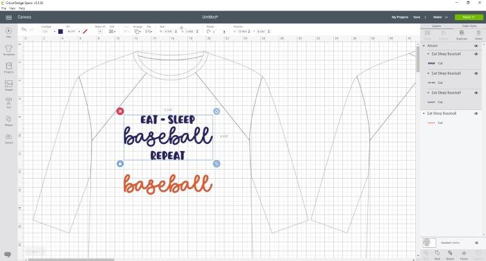 baseball SVG in Design Space