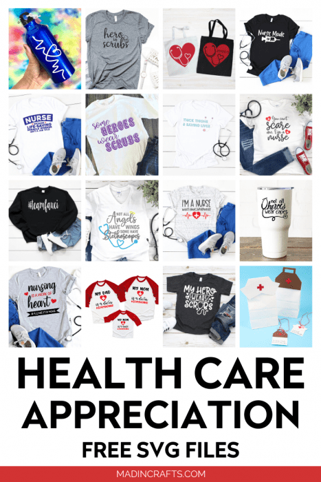 collage of healthcare SVG designs