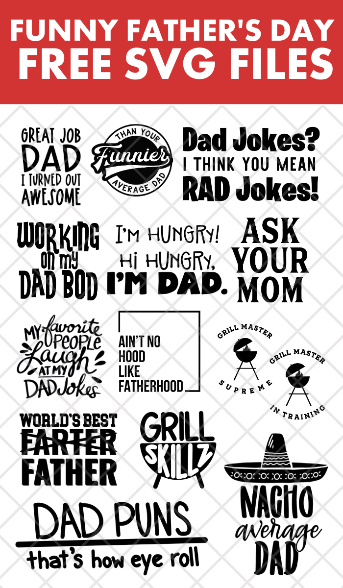 collage of SVG files for Father\'s Day