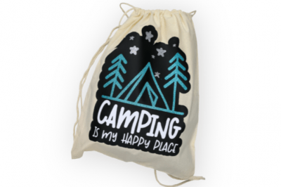 Camping backpack on a white background