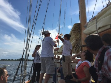 Helping Hoist the Sails