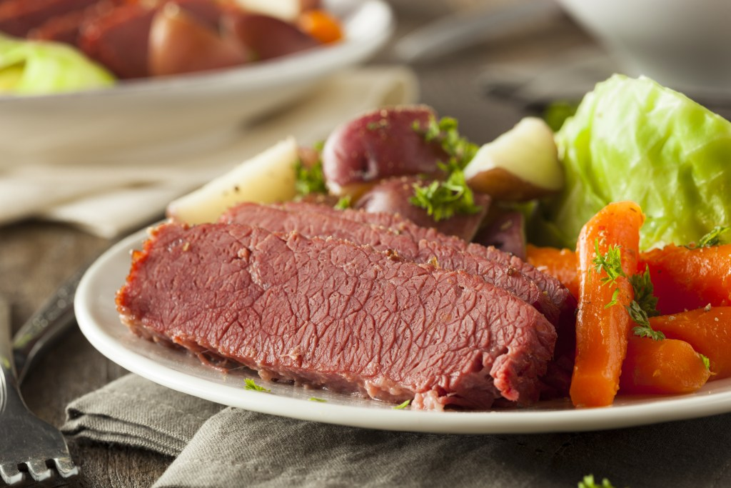 St. Patrick's Day Corned Beef and Cabbage in Madison WI