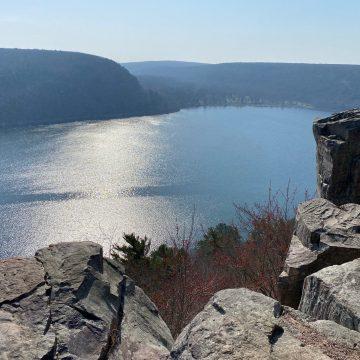 Devil's Lake taken from the Bluffs by Marcie Samuelsen