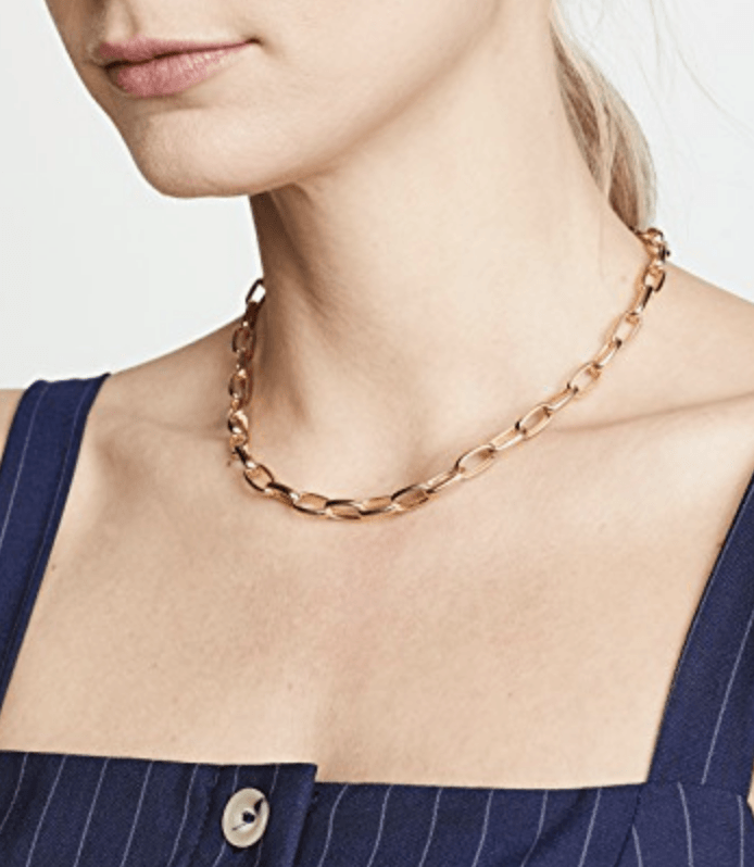 chain link necklace jewelry trending