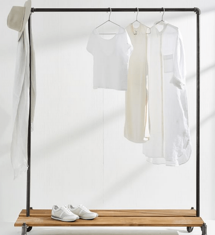 clothing rack on wheels for closet