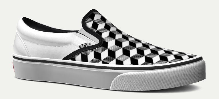 vans slip on checkerboard white and gray