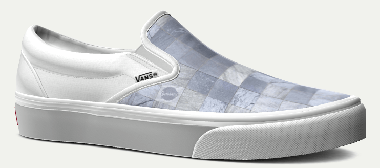 white custom vans slip ons for men and women