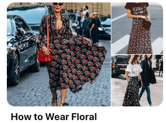 how to wear floral outfits