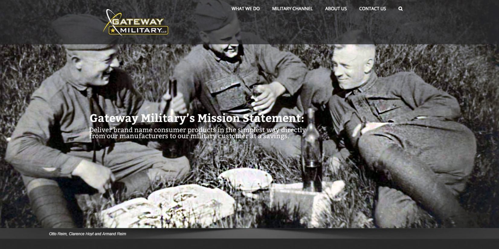 web page design - Gateway-Military