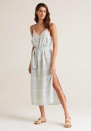 Smocked Waist Dress - Desert Olive - ShopMadisonbelle