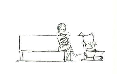 Nursing mother - before the ninja joins her
