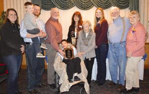 The Carrier Family, LtoR Sarah, Benjamin, Rich, Rick, Joshua, Sandy, Bonnie Hanson, Carrie, Dick, Kate