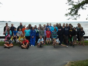 CAP's Mentoring Program enjoys a team building day at Verona Beach State Park.