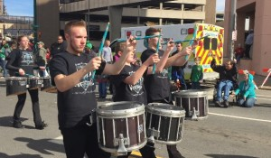 The Mid-York Musketeers are off to a great start in the 2016 parade season.  The drum line and  color guard successfully competed in the 34th Annual Syracuse St. Patrick's Day Parade on  Saturday, March 12, 2016.