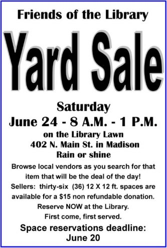 Yard Sale at the Library!