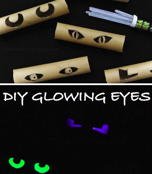 Handy halloween hints for fall craft the real estate for Glow sticks in toilet paper rolls