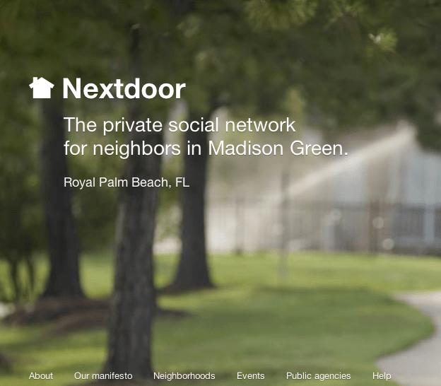 NextDoor.com Madison Green