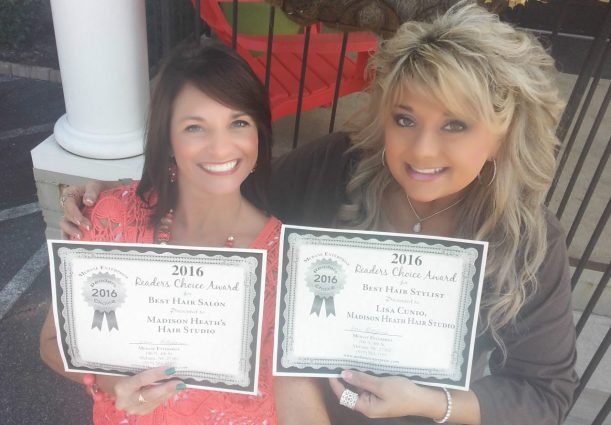 Madison Heath's won Best Hair Salon again for 2016 and Lisa voted Best Stylist!