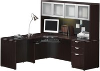 Modern L-Shaped Desks with Side Storage | Madison Liquidators