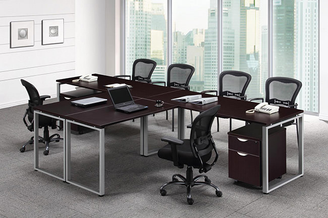 Computer  Office TShaped Desks for Two People