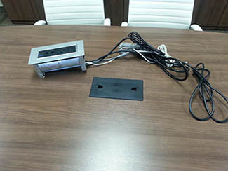 PLT B Power Conference Table Power Outlet Amp Data Port
