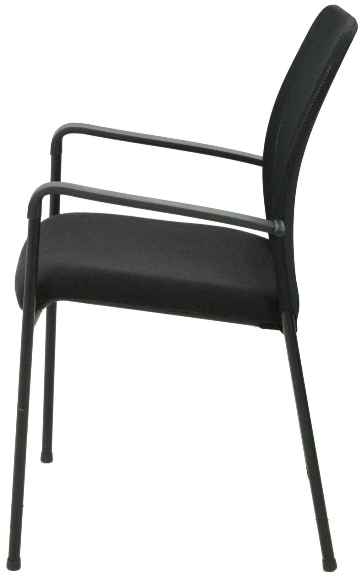 Images of Upholstered Stacking Chair with Mesh Back