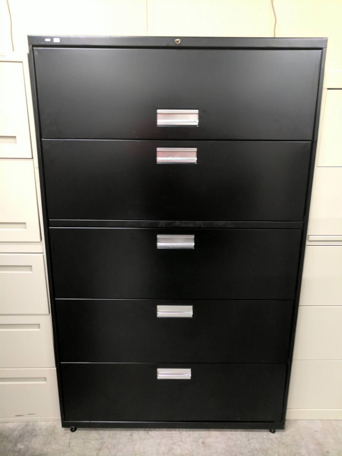 Images of Black Hon 5 Drawer Lateral File Cabinet