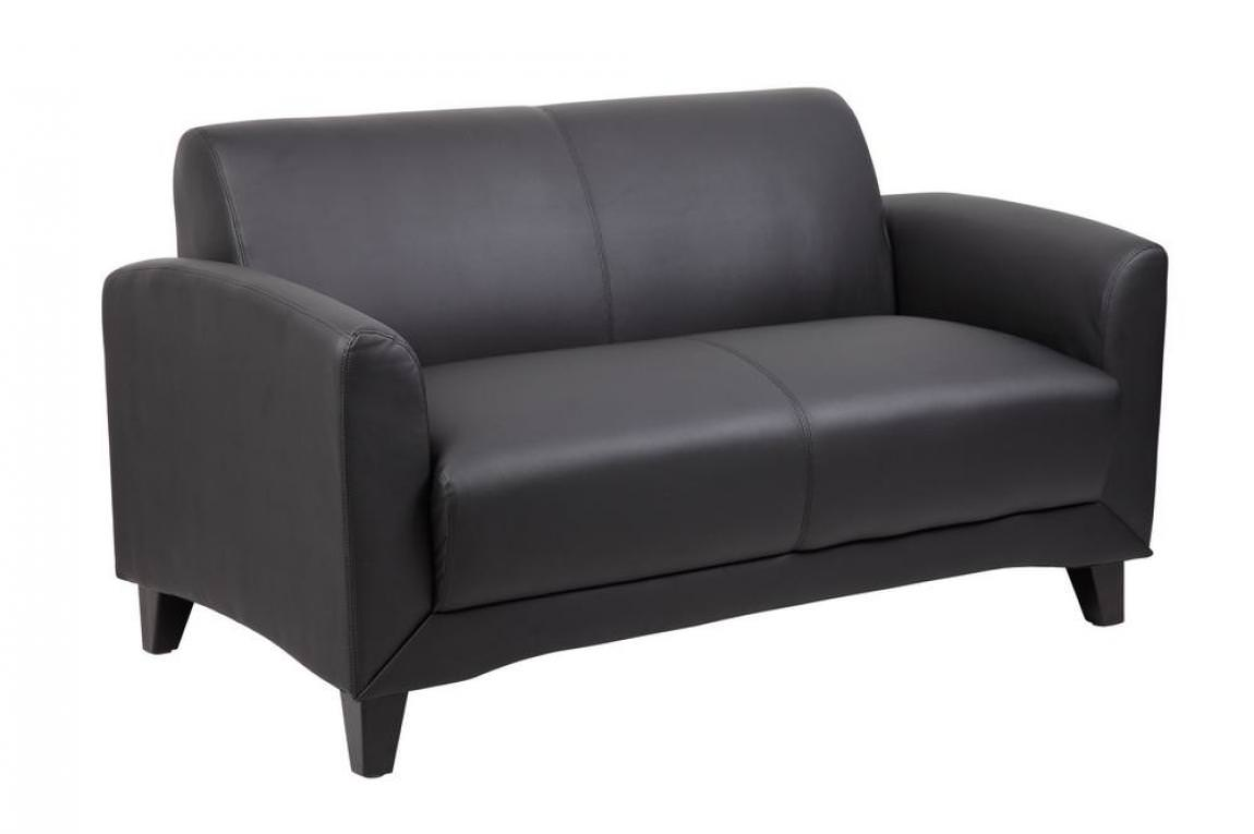 Black Love Seat Two Person Reception Couch Madison Liquidators