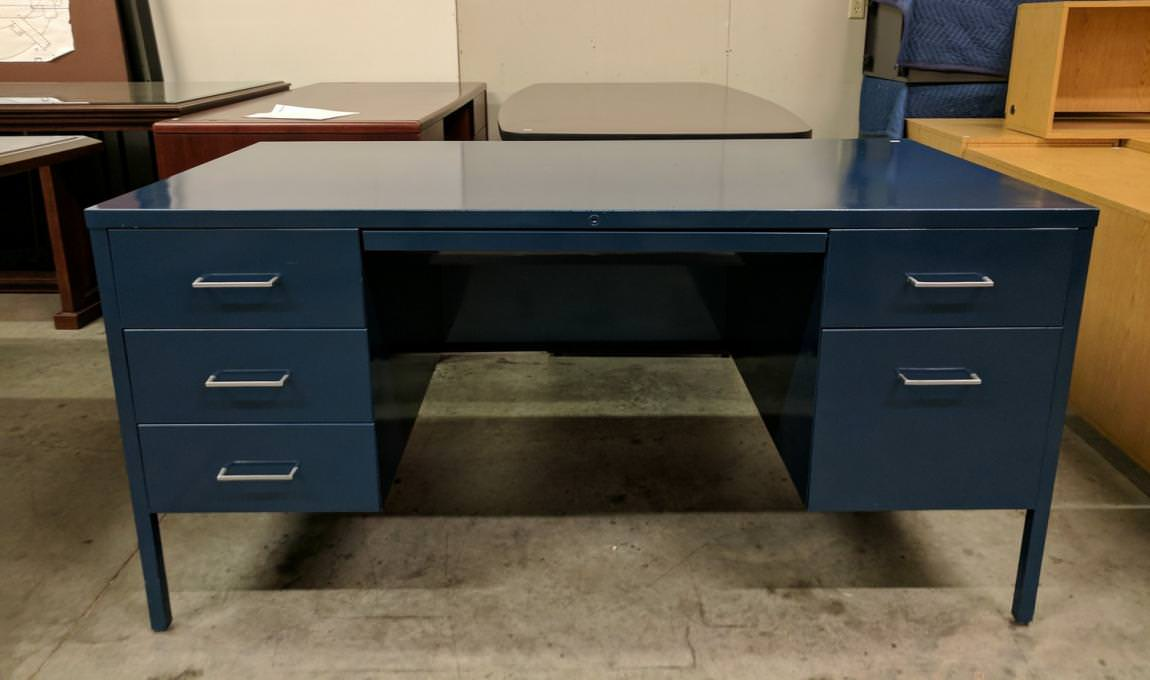 Images of Steelcase Metal Desk With Drawers