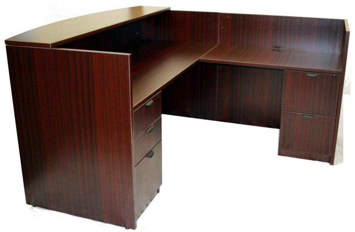 Images Of Mahogany Reception Desk L Shape With Locking Drawers