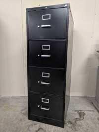 Images of Black Hon 4 Drawer Vertical Legal File Cabinet
