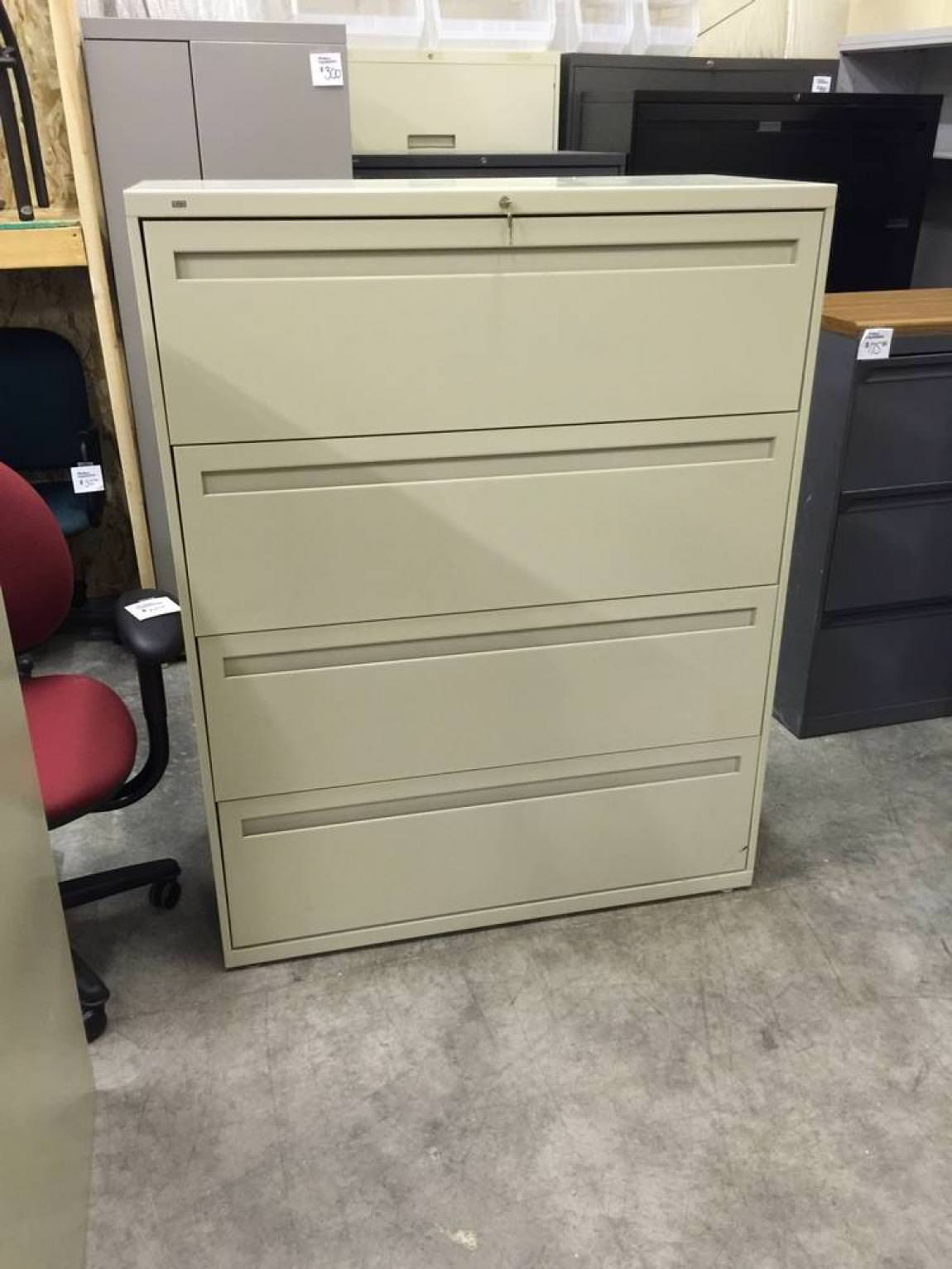 Locking 4 Drawer Lateral HON Filing Cabinet  Madison