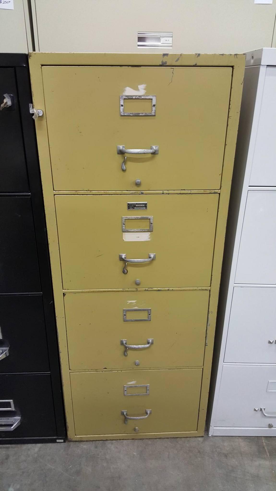 4 Drawer Legal ShawWalker Fireproof File Cabinet