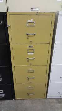4 Drawer Legal Shaw-Walker Fireproof File Cabinet ...
