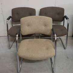 Brown Office Guest Chairs Queen Anne Recliner Chair Covers Images Of Tufted And Chrome
