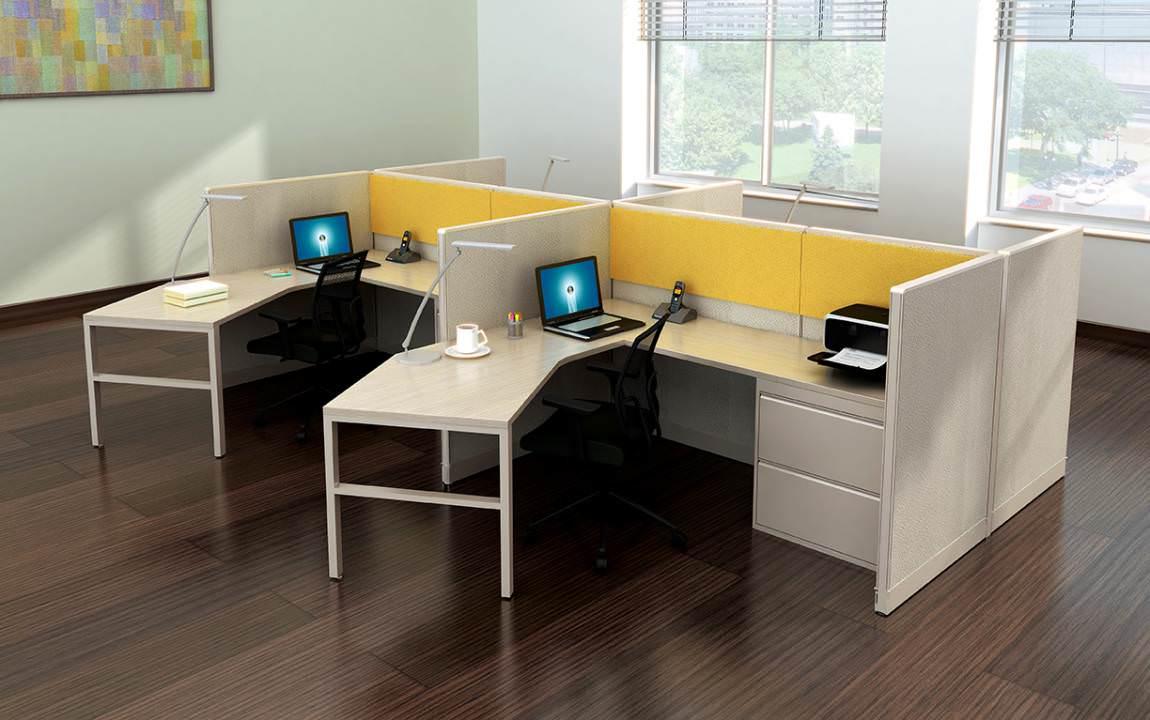 Images of Curved L Shape Cubicle Desk Workstations