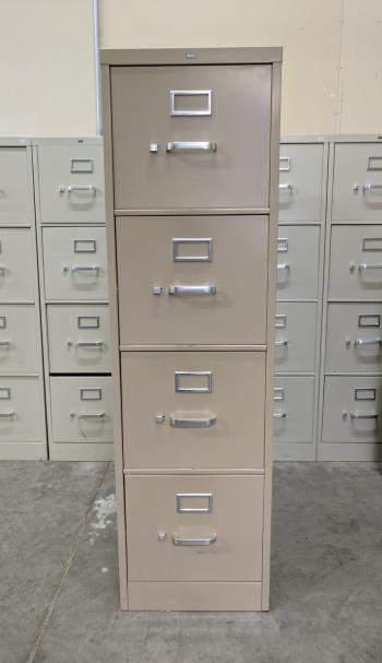 Tan Hon 4 Drawer Vertical File Cabinet  Madison Liquidators