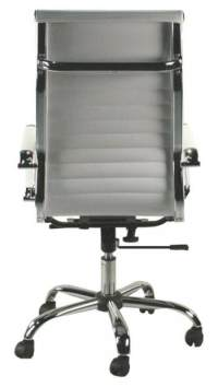 White Contemporary High Back Rolling Office Chair