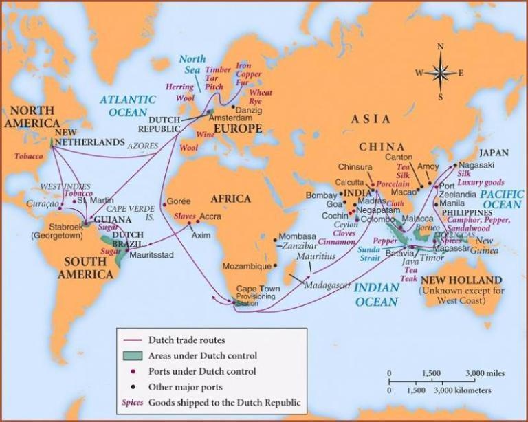 Dutch trade routes