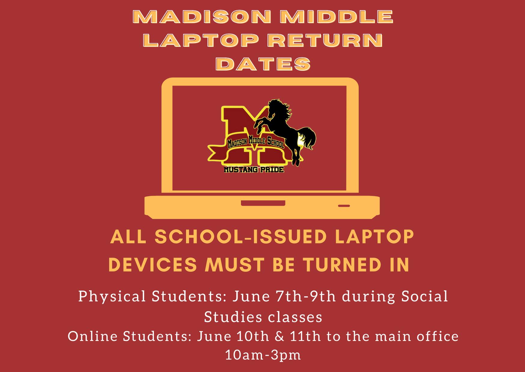 Laptop return dates flyer