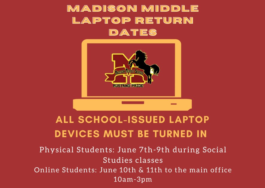 laptop return flyer