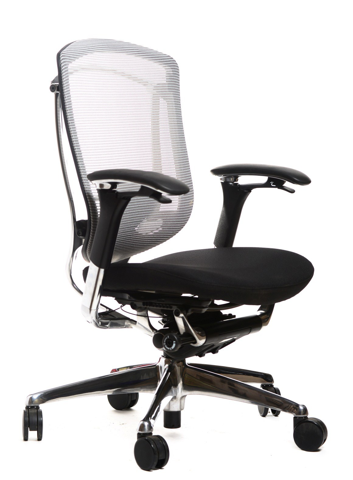 Work Chair Contessa Work Chair By Teknion Ct Grey Mesh Blk Fab Alum