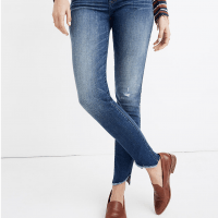 Madewell 10″ High-Rise Skinny Jeans: Cutout Tulip Hem Edition