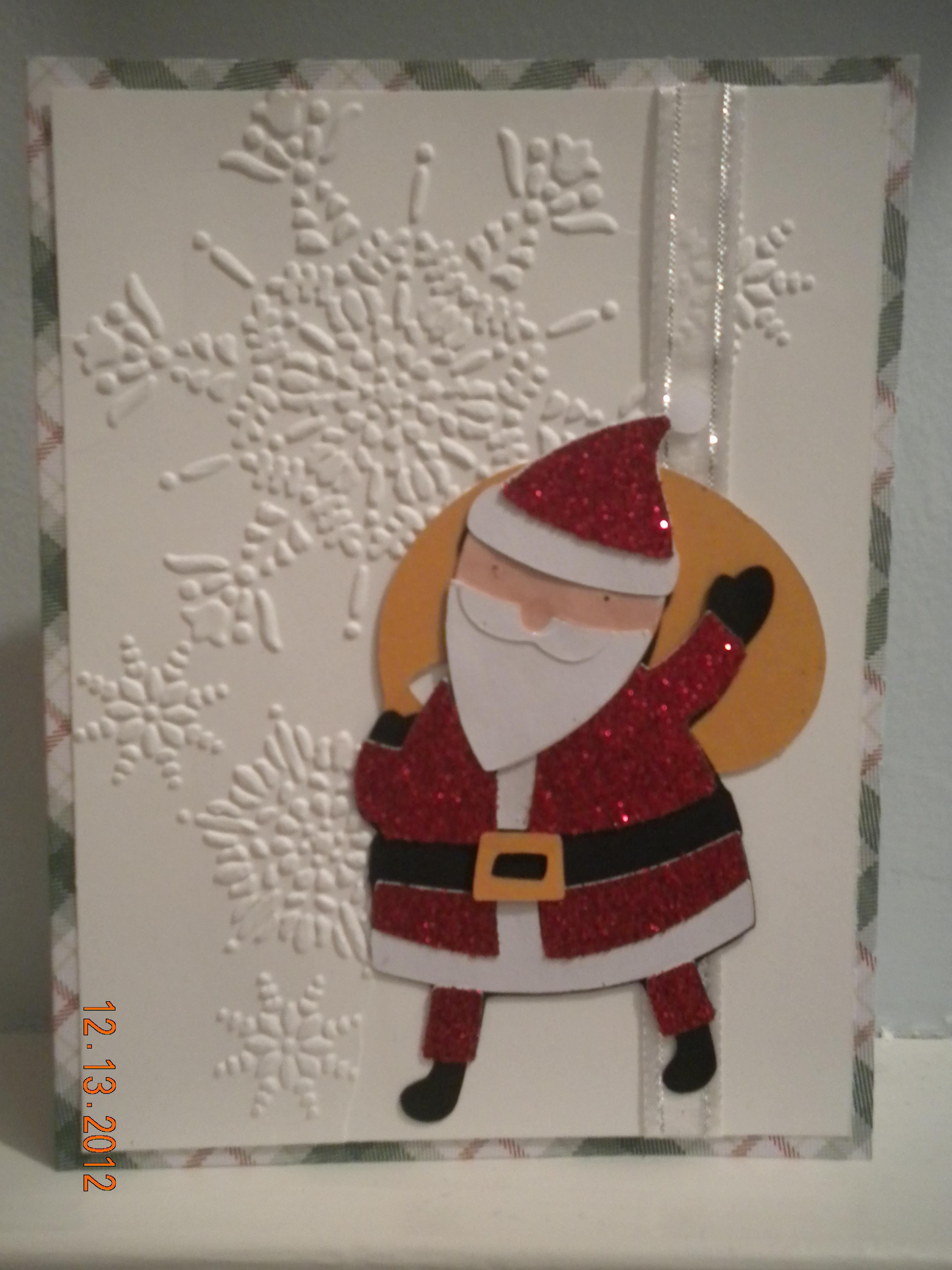 Winter Frolic Santa Christmas Cricut Card