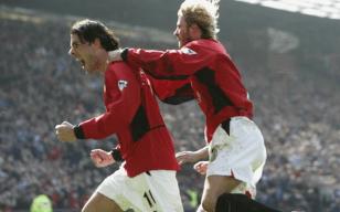Man U . David Beckham Ruud van Nistelrooy Man Utd