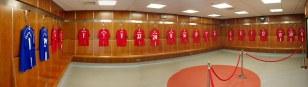 Man U . Man United dressing room