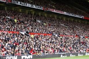 Man U . Old Trafford crowd