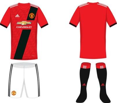 United . Man Utd reveals new kit 2017.2018 5
